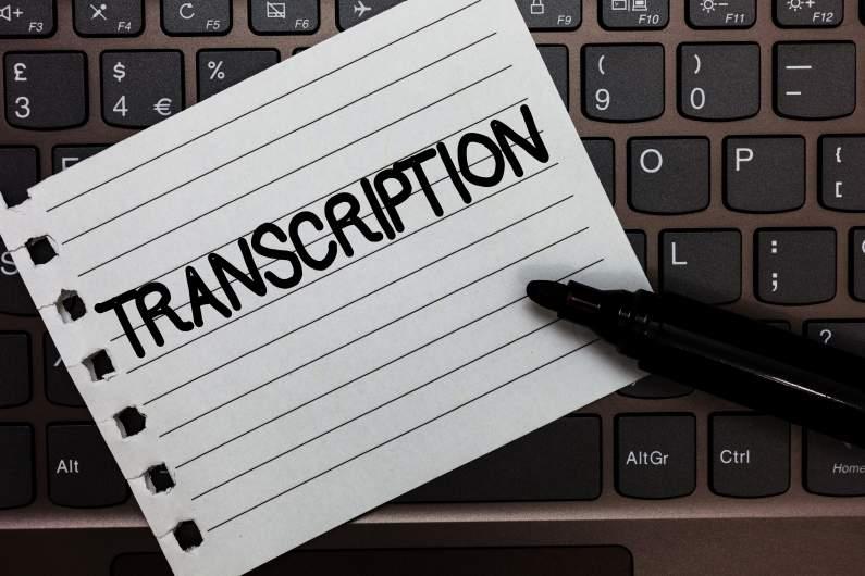 service de transcription